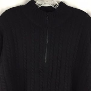 Sonoma for him cable knit black pullover sweater